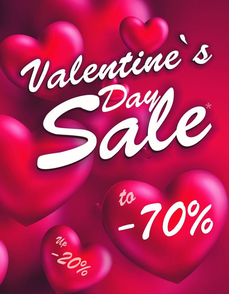 Праздничные скидки ко Дню Святого Валентина в Камее