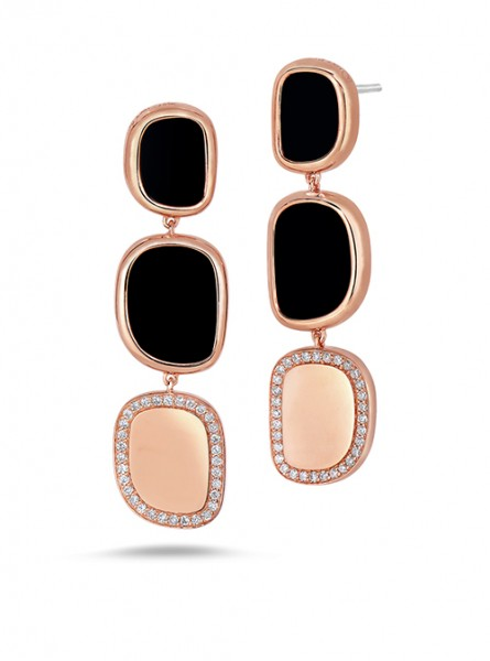 Ювелирный бренд Roberto Coin Коллекция Black Jade Серьги ADV888EA1006_r