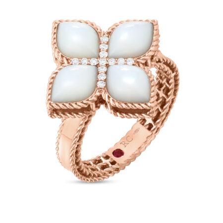 Ювелирный бренд Roberto Coin коллекция Princess Flower Кольцо ADV888RI1569_r