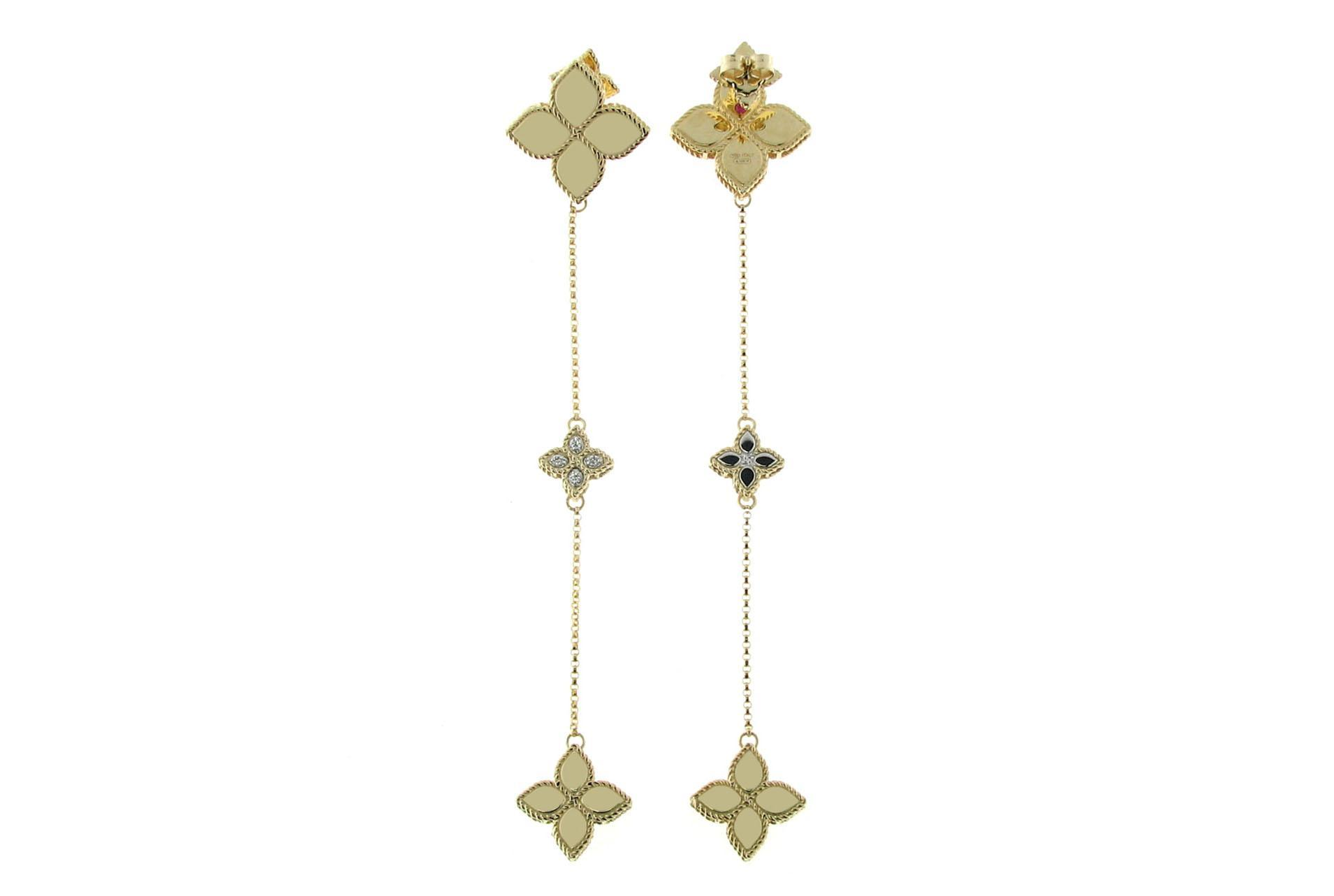 Серьги Roberto Coin коллекция Princess Flower ADR777EA0652YW