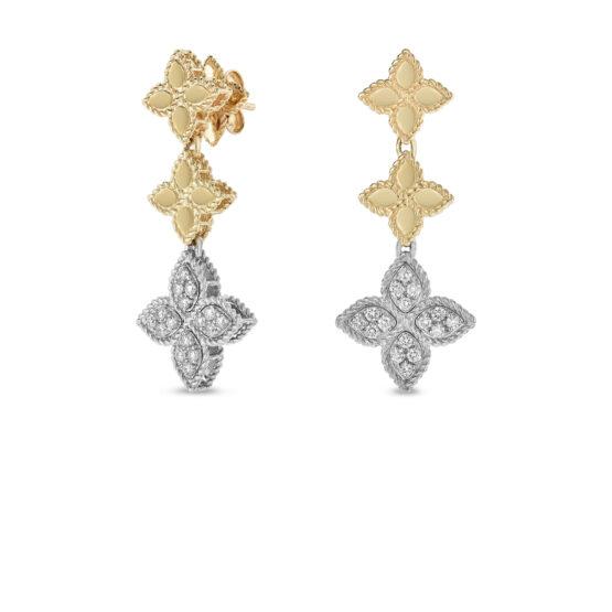Ювелирный бренд Roberto Coin коллекция Princess Flower Серьги ADR777EA0802_yw