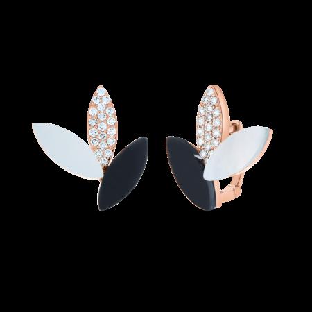Ювелирный бренд Roberto Coin коллекция Petals Серьги