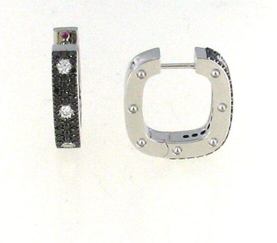 Серьги с чёрными бриллиантами из коллекции Pois Moi Roberto Coin