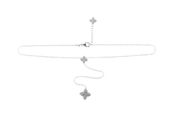 Чокер в белом золоте с бриллиантами Roberto Coin коллекция Princess Flower ADR777CL1202W