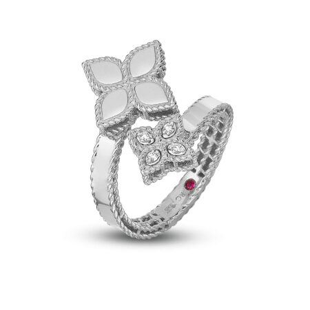 Кольцо в белом золоте с бриллиантами Roberto Coin коллекция Princess FlowerADR777RI0644_w