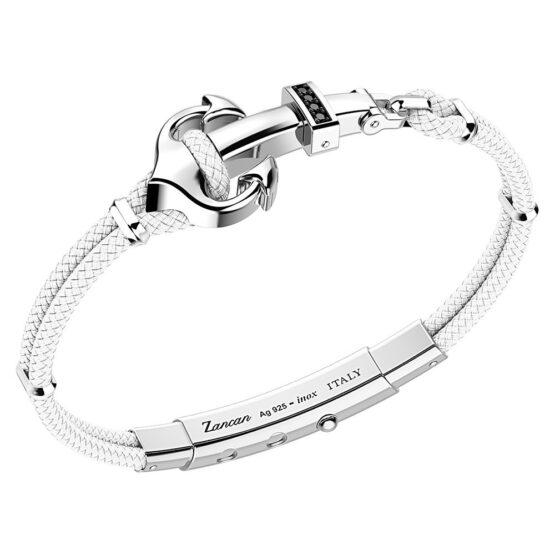 Серебряный браслет, черная шпинель и кевлар Zancan EXB623-BI