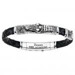 Мужской браслет из серебра и стали ZANCAN в ювелирном бутике КАМЕЯ