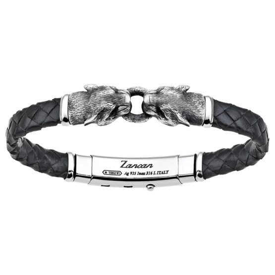 Мужской браслет с ремешком из натуральной кожи рептилий.EXB952-NE ZANCAN