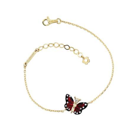 Браслет Roberto Bravo с красной бабочкой
