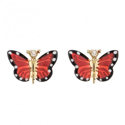 Серьги в форме бабочки от Roberto Bravo