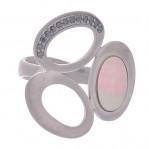 Кольцо с перламутром в серебре