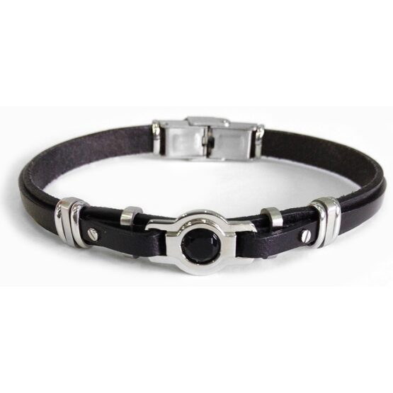 leather-bracelet-with-onyx-and-steel