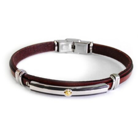 leather-bracelet-with-steel-plate-and-kompass (3)