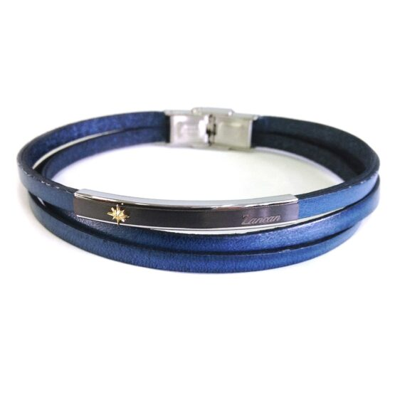 leather-bracelet-with-wind-rose-on-steel-plate