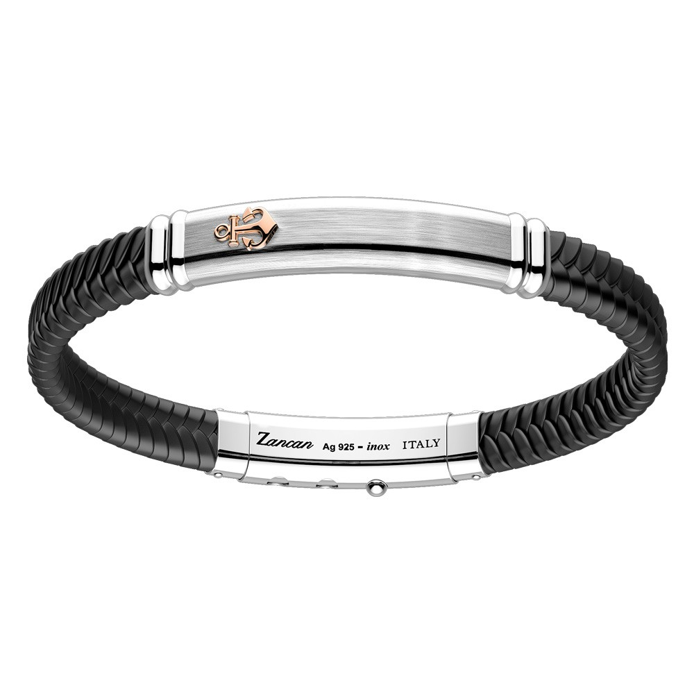 silver-bracelt-with-black-kevlar-and-black-namelled-details