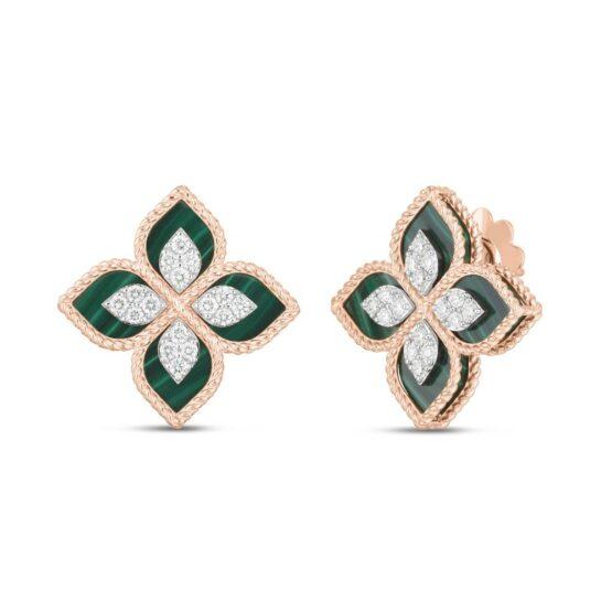 princess-flower-earrings-in-18kt-rose-gold-malachite-diamonds-stud-version